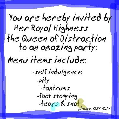 pity party invitation